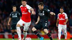 Liverpool imbang lawan Arsenal dalam jadwal Liga Inggris 2015/16 hari ini