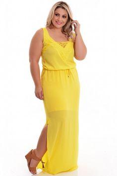 Vestido Plus Size New Golden