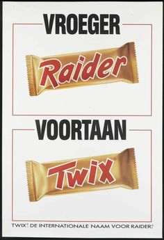 Used to be called Raider, changed to Twix. 80s Ads, Old Advertisements, Sweet Memories, Childhood Memories, Nostalgia 70s, Good Old Times, When I Grow Up, Old Toys, Raiders