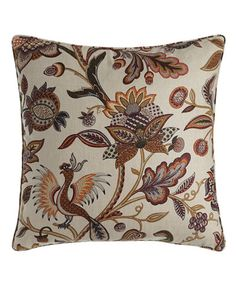 """H82LY Jane Wilner Designs Dream Catcher Floral Pillow, 22""""Sq."""