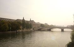 The Seine and Louvre in Paris photo on canvas by angiemccullagh #fpoe
