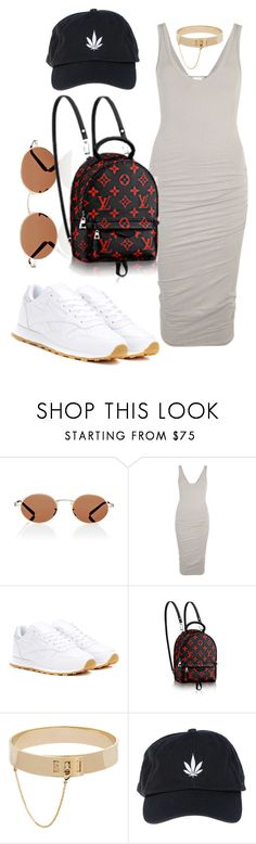 """""""Untitled #998"""" by veronice-lopez ❤ liked on Polyvore featuring Oliver Peoples, James Perse, Reebok, Eddie Borgo and Palm Angels"""