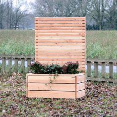 pflanzkasten holz mit sichtschutz - element, länge: 212 cm, farbe, Moderne