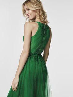 Imagem do vestido de festa verde (62059). Vestido GLACISE comprido sem mangas