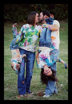 Family Paint Fight....what are the odds of getting Ry to do this for family photos?