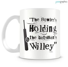 The Bowler's Holding the batsman's Willey. Funny by JuiceGraphics