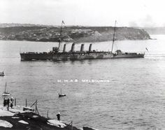 1916 HMAS Melbourne joins the Grand Fleet