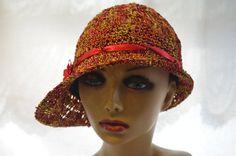 1920s Cloche / Flapper Hat / Sunhat / by MixedMediabyBridget,