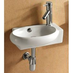 Caracalla Ceramica Oval Wall Mounted Bathroom Sink Overall Height ...