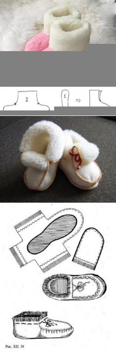 New sewing baby clothes patterns children ideas Crochet Slipper Boots, Crochet Baby Shoes, Crochet Slippers, Sewing Baby Clothes, Baby Clothes Patterns, Baby Sewing, Diy Clothes, Doll Shoe Patterns, Baby Shoes Pattern