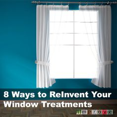8 Ways To Reinvent Your Window Treatments Diy Curtains, Large Homes, Diy Home Improvement, Home Renovation, My Room, Window Treatments, Sweet Home, Decorating Ideas, Decor Ideas