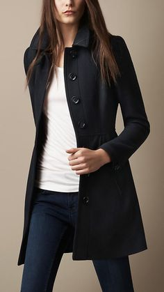 Wool Twill Dress Coat | Burberry #style #fashion #outfit #moda #donna #lifestyle #jeans