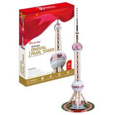 Mô hình giấy tháp truyền hình Minh Châu Phương Đông (Thượng Hải)   Cubic Fun   Mô hình giấy 3D Cubic Fun   123.vn