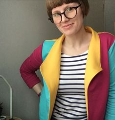 So pleased with how my #MorrisBlazer turned out. I had a bit of a wobble about the colour blocking half way through cutting but I persevered and I really love the end result. This is my first ever blazer and I'm so chuffed. I love the hidden contrast colour in the pockets too...of course I added pockets because #PocketsAreEverything Pattern by grainlinestudio Fabric from jellyfabrics #MeMade #SlowFashion #BeginnerSewing #SewingProject #SewingLove #HandMadeFashion #SewYourWardrobe Blazer Pattern, Sewing For Beginners, Slow Fashion, Sewing Projects, Contrast, Pockets, Quilts, Colour, Fabric