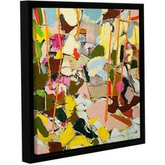 ArtWall Allan Friedlander Piney Woods Gallery-wrapped Floater-framed Canvas, Size: 36 x 36, Green