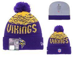 New Era Knit Beanie Onfield 19 Salute to Service Minnesota Vikings