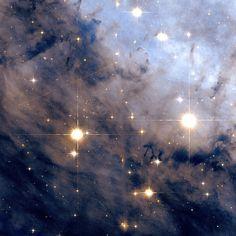 Nebulosa da Águia. Visão parcial. Imagem da NASA.