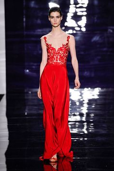 Reem Acra (thought the model is FAR TOO THIN.)