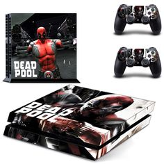 >> Click to Buy << Dead Pool Vinyl PVC Decal skin stickers for Playstation 4 PS4 skin stickers +2 controller #Affiliate