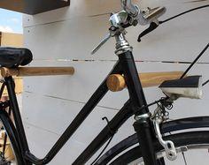 Wooden bicycle rack/ Bike stand/ Bike holder/ Minimalist bike rack//Bike hook