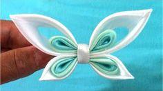 Бабочки из лент Мастер класс - YouTube