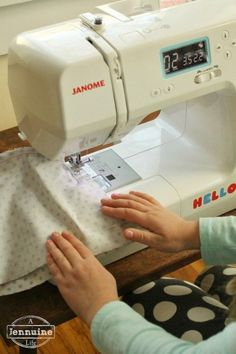 Tiny Sewists Teaching Kids to Sew simple sewing project for kids