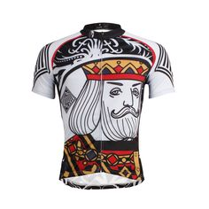 19f65176a ILPALADINO Poker Face Playing Card Diamonds King Spades Jack Club Queen  Heart Queen --Short-sleeve Men s.Woman s Cycling Suit Jersey -- Apparel  Road Riding ...