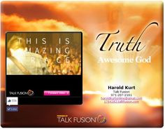 Great song to be stuck in my head all day, check it... Phil Wickam - This Is Amazing Grace  http://app.talkfusion.com/fusion2/view.asp?NDI1Nzg5OA==_15453007