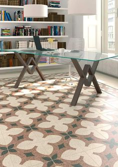 Product: floor tiles DEVON, setting: living room