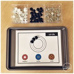 A Pinch of Kinder: 2D Shape Mats with Real Life Examples for Play Dough and Loose Parts