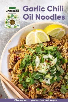 An incredibly flavorful Chinese-inspired meal that can be ready in under 20 minutes. This aromatic dish was inspired by You Po Mian. This version uses savory Chickapea Greens+ Spirals and a spicy garlic oil for a meal that is both gluten-free and vegan.