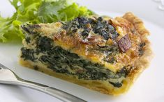 This silverbeet quiche by Woman& Day rich in both flavour and texture. Delicious hot or cold, enjoy with a side salad. For a milder version, substitite the greens with English spinach. Beet Recipes, Quiche Recipes, Veggie Recipes, Vegetarian Recipes, Cooking Recipes, Quiche Dish, Frittata, Breakfast Quiche, Gourmet