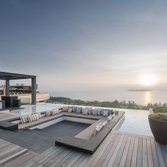 Rosewood Sanya Hotel III Sky Pool Wison Tungthunya W Workspace Design Hotel, Dream Home Design, House Design, Design Design, Chair Design, Jardiniere Design, Rooftop Terrace Design, Rooftop Pool, Sky Pool