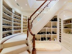 Handbags & Shoes department of a 2-story closet...omg.  Sue, I think this is another view of the one you sent me.