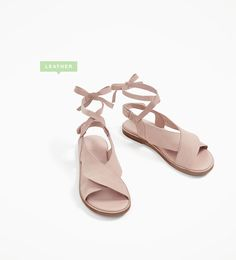 Image 1 of FRILLED LEATHER SANDALS from Zara