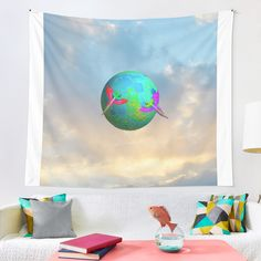 """Earth up to the Sky"" Tapestry by azimaplace 