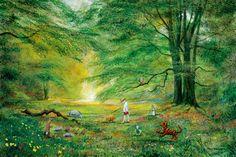 Knighting of Pooh by Peter Ellenshaw
