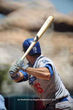 Andre Ethier at bat against the Angels