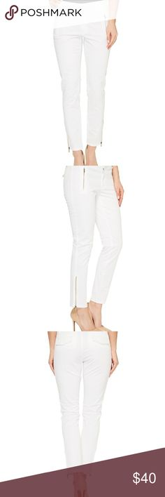 Ivanka Trump Stretch Cotton Poplin Ankle Pants NWOT White Cotton Stretch Ankle Pants. Size 4, worn once for 10 minutes until I changed my outfit and my mind! 😊 Ivanka Trump Pants Ankle & Cropped