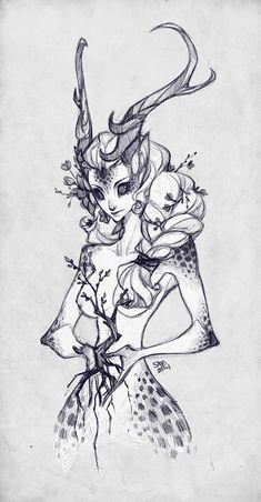 Sketch Commission: ooneithoo by sambees.deviantart.com on @deviantART: