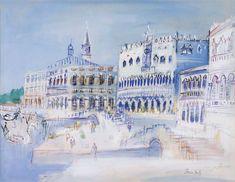 Venise vers la Place St. Marc, 1945 by Jean Dufy