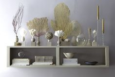 there is a great video tutorial on marthastewart.com on how to make these sea shell display pedestals.