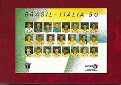 Large postcard #brazil football team 1990 #world cup in #italy printed autographs,  View more on the LINK: 	http://www.zeppy.io/product/gb/2/122191237450/