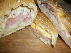 Lark's Country Heart: Ham & Cheese Stuffed Bread