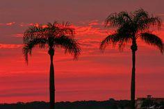 Beautiful sunset on Myrtle Beach, South Carolina