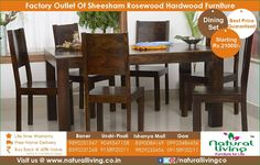 6 seater Dining set range made out of authentic sheesham wood available at our stores in #Pune & #Goa. Do give us a visit to check out the full range. #dining #furniture #naturallivingfurniture