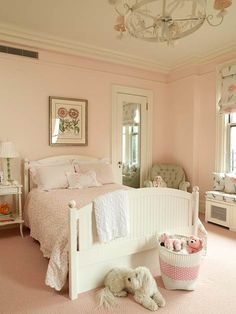 One of my favorites - love the wall color.     Bedroom Decorating Ideas: Young Children - Traditional Home®