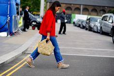 Natasha Goldenberg  arrival for Mary Katrantzou ready to wear fashion show at Granary Square, Kings Cross, London.