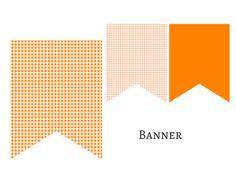 banner Orange Gingham Banner, Bunting, Pennant, Garland, Decorations for Baby Shower, Birthday Party, Bridal Shower, Wedding Decoration banner