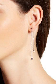 Pave Double Drop Earrings